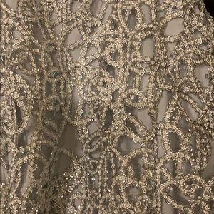 B Darlin Dresses - Sliver and blue high low formal dress sz 7/8